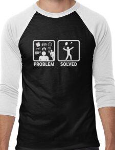 Funny Badminton Problem Solved Men's Baseball ¾ T-Shirt