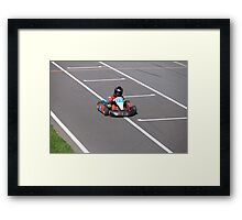 young Go-Carting  Racer finish Framed Print