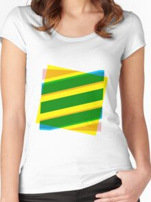 Abstract stripe Women's Fitted Scoop T-Shirt
