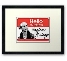 Regina Phalange - FRIENDS Inspired Framed Print