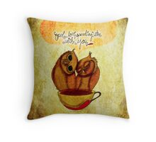 What my #Coffee says to me - June 6, 2014 Pillow Throw Pillow