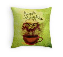 What my #Coffee says to me - January 30, 2014 Pillow Throw Pillow