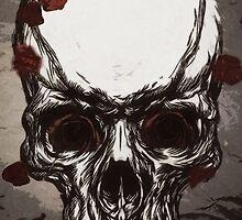 Skull n' rose by Cisko