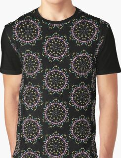 Neon Flower Graphic T-Shirt