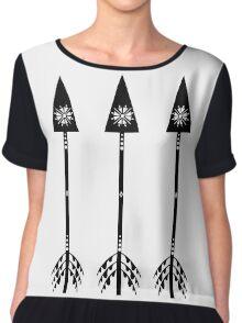 Arrows - White Chiffon Top
