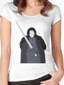A Crow in the Snow Women's Fitted Scoop T-Shirt
