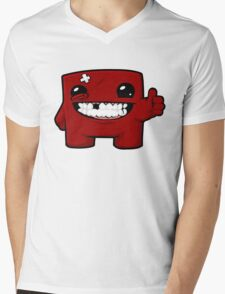 Super Meat Boy Mens V-Neck T-Shirt
