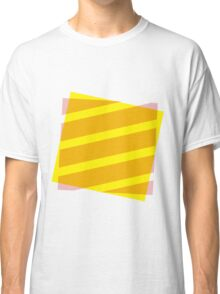Yellow and pink abstract Classic T-Shirt
