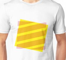 Yellow and pink abstract Unisex T-Shirt