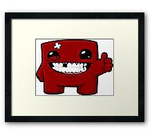 Super Meat Boy Framed Print