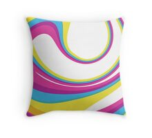 CMYK Twirl by Red Iguana Design Throw Pillow
