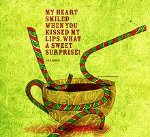 What my #Coffee says to me -  December 17, 2012 Pillow by catsinthebag