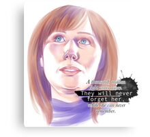 Never forget Donna Noble_white Metal Print