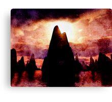 Fire Mountains Canvas Print