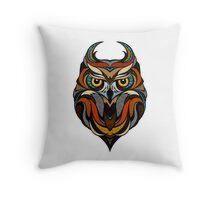 Athene Noctua Deep totem Throw Pillow