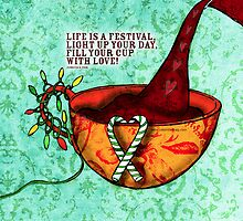 What my #Coffee says to me -  December 5, 2012 Pillow by catsinthebag