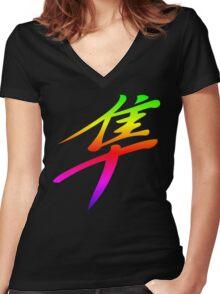 Rainbow Hayabusa Women's Fitted V-Neck T-Shirt