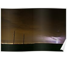 Lightning over Denver Poster