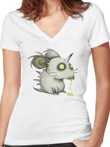Buuuu Moonlight Monster mouse unicornio Women's Fitted V-Neck T-Shirt