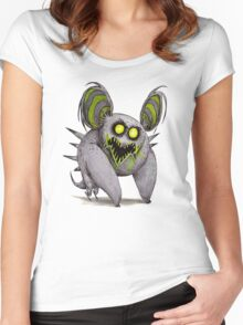 Buuuu Moonlight Monster koala Women's Fitted Scoop T-Shirt