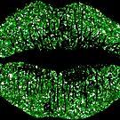 Stylish Green Glitter Lips by Nhan Ngo