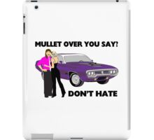Mullet Over Think Again iPad Case/Skin