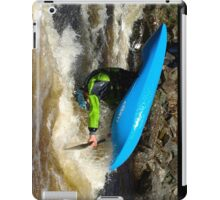 Whitewater playboater front-loop iPad Case/Skin