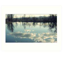 Blue Sky Reflection Art Print