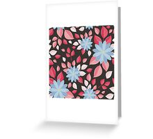 Seamless wall-paper, decorative flowers. Greeting Card