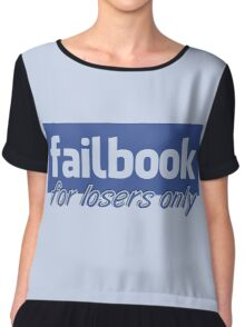 Parody, failbook, for losers only Chiffon Top