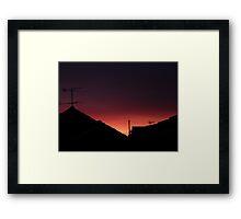 Fire in the Sky sunrise Framed Print