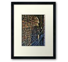 Alley of Shadows Framed Print