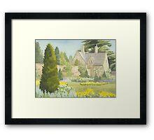 Walled Garden Newstead Abby Framed Print