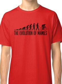 Funny MAMIL Middle Aged Man In Lycra Evolution Classic T-Shirt