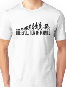 Funny MAMIL Middle Aged Man In Lycra Evolution Unisex T-Shirt