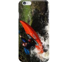 Whitewater playboater iPhone Case/Skin