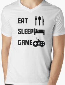 Eat Sleep Game Mens V-Neck T-Shirt