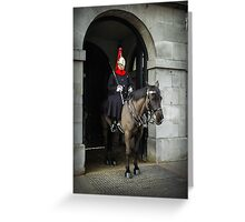 Horse guard on duty at Buckingham Palace Greeting Card