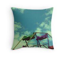 Vintage Ferris Wheel Throw Pillow