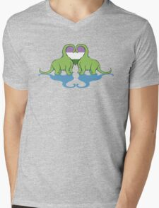 Genderqueer Pride - Dino Love Mens V-Neck T-Shirt