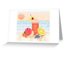 cocktail at sunset Greeting Card