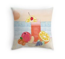 cocktail at sunset Throw Pillow