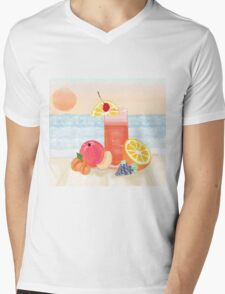 cocktail at sunset Mens V-Neck T-Shirt