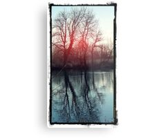 Waterscape Red Dusk Metal Print