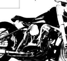 The Harley FL Panhead Sticker
