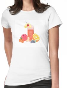 simple cocktail with fruit Womens Fitted T-Shirt