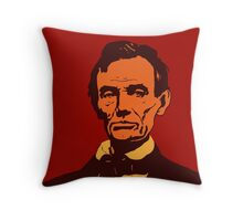 Abraham Lincoln vector pop art red Throw Pillow