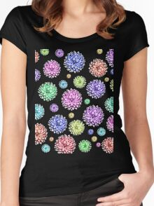 A Rainbow Of Flowers Women's Fitted Scoop T-Shirt