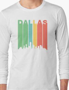 Vintage Dallas Cityscape Long Sleeve T-Shirt