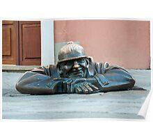 Cumil, Bratislava statue. Poster